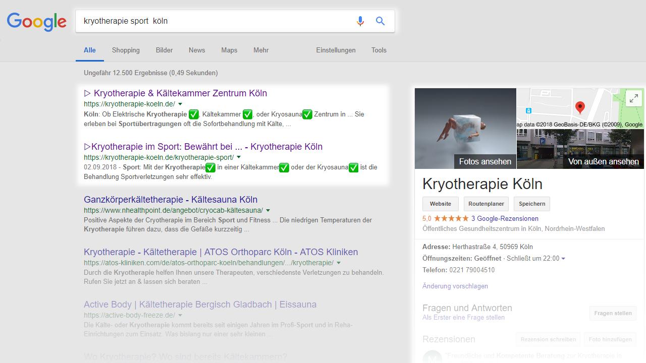 Kryotherapie Sport Köln